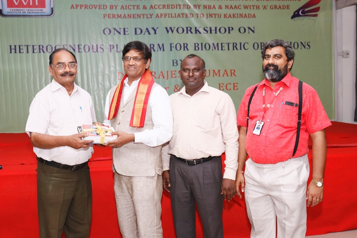 Prof. P.Rajesh Kumar felicitated by VVIT Faculty